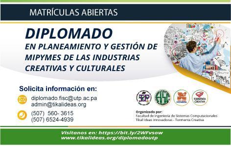 Diplomado en Planeamiento y Gestión de MIPYMES de las Industrias Creativas y Culturales