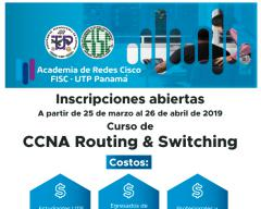 Inscripciones en Curso de CCNA Routing & Switching