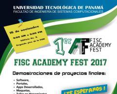 Afiche Feria de Proyectos Finales FISC Academy Fest