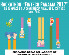 Afiche del Hackathon Fintech Panama 2017