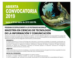 Convocatoria a Maestría en Ciencias de Tecnología de la Información y Comunicación